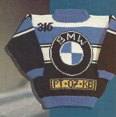 DIY via Marktplaats. Breipatroon BMW trui. Verkrijgbaar in de maten 98 - 104…