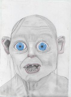 smeagol by carolehug on DeviantArt Bad Fan Art, Cartoon Shows, Pencil Drawings, Fanart, Weird, Celebrity, Deviantart, Fictional Characters, Drawings In Pencil