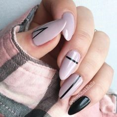 black-nails-cool-ideas-almond-stripes.jp