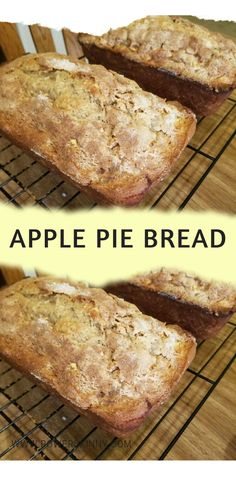 Ingredients: 1 can apple pie filling, mashed 1 yellow cake mix 4 eggs, slightly beaten 1 cup self rising flour 1 Tbsp cinnamon 1 medium chopped apple Bread Recipes, Apple Pie Recipes, Brunch Recipes, Homemade Pie Crusts, Homemade Apple Pies, Apple Pie Bread, Banana Bread, Canned Apples