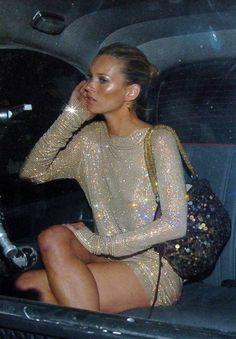Kate Moss sparkling away