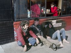 1430 Haight by craigiest, via Flickr Hippies sitting in front of A-1 Delicatessen on March 29, 1967 while diners eat at the Blue Front Cafe on December 27, 2010 - although i dont think i would call them hippies students maybe - Historical old photos superimposed / combined with more recent pictures at the same location / scene