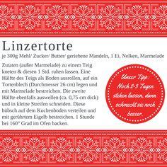 Die beste Linzertorte der Welt kommt von meiner Kollegin Andrea.