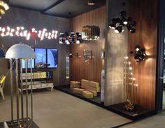 Our stand @maisonetobjet  Hall 8 Stand D18 www.delightfull.eu #goldenlamps #vintagelamps #highend #midcentury  #contemporarydesign #neonlamps, #walllamps #floorlamps #chandeliers #suspensionlamps #maisonetobjet #paris #MO14