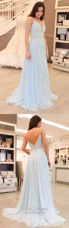 Cheap Prom Dresses uk,Buy Gorgeous Straps Light Sky Blue Chiffon V-Neck Backless Sleeveless A Line Long Prom Dress online.Shop our beautiful collection of unique and convertible long Prom dresses from Prom Dresses For Teens, Prom Dresses 2018, Prom Dresses Online, Cheap Prom Dresses, Ball Dresses, Evening Dresses, Formal Dresses, Party Dresses, Light Blue Prom Dresses