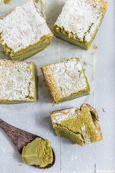 Matcha Custard Cake | Raspberri Cupcakes