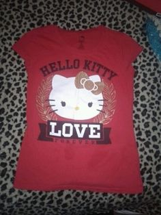 edcb54a5 Hello kitty love forever top Love Clothing, Hello Kitty, Closet, Clothes  For Women