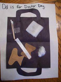 d is for doctor bag INSIDE