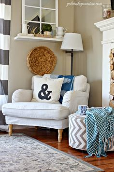Clean Slate. Wicker TrayCorner ChairFarmhouse Living RoomsIkea ...