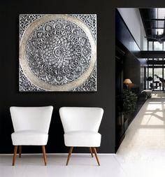ESTUDIO DELIER   Cuadro mandala roseton 100x100 zen ver mas modelos en tienda online cuadros