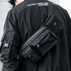 The Crépuscule, Techwear Clothing and Accessories Waterproof Messenger Bag, Designer Messenger Bags, Messenger Bag Men, Edc, Fashion Bags, Mens Fashion, Minimalist Bag, Cyberpunk Fashion, Future Fashion