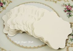 DIY Ivory Place Cards  Wedding Name Cards  Blank by KatsPaperTrail, $6.00