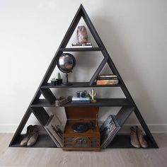 The Wander and Wood Co-Triangle Book Shelf Geometric