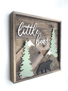 baby boy nursery room ideas 320740804715162675 - Source by paulineleret Mountain Nursery, Forest Nursery, Bear Nursery, Nursery Room, Mountain Art, Cabin Nursery, Nursery Ideas, Mountain Crafts, Baby Boy Nursery Themes