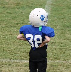 My 6 yr old grandson. Future #NFL player. Hurry up and get that big contract!  :)