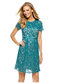 Adrianna Papell Allover Lace Dress #belk