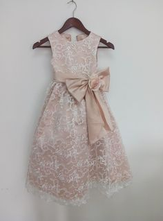 champagne+Taffeta+Flower+Girls+Dresses+Dancing+Lace++Party+Dress+Birthday+Custom+Girls+Dress+With+    This+dress+could+be+custom+made,+there+are+no+extra+cost+to+do+custom+size+and+color.    Flower+Girl+Dress+Little+Baby+Girl+Baptism+Dress+Tulle++Infant+Toddler+Pageant+Birthday+Party+Christening+...