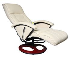 Electric Cream Artificial Leather TV Recliner Massage Chair Heated Swivel Seat *** Check this awesome product by going to the link at the image.Note:It is affiliate link to Amazon.