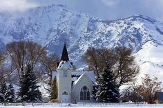 A little Bit Of Heaven On Earth  This heartwarming little country church has had services since around the early 1900s, and has been lovingly restored. It is nestled beneath the majestic Ruby mountains in Nevada