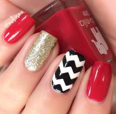 classic red with a chevron accent