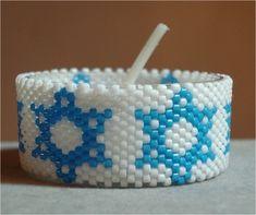 Star of David Tea Light   Bead-Patterns