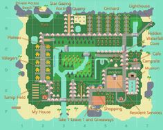 My updated map design after the feedback from my post yesterday! More feedback is appreciated! Animal Crossing Wild World, Animal Crossing Guide, Animal Crossing Villagers, Animal Crossing Qr Codes Clothes, Japon Tokyo, Map Layout, Ac New Leaf, Island Map, River Island