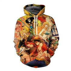 Anime One Piece Hoodies Print Pullovers Sportswear Sweatshirts Luffy Ace Law Sabo Zoro Nami Nico Sanji Casual Tops Outfit Hoodie Sweatshirts, Printed Sweatshirts, Hoodies, One Piece Hoodie, Zoro Nami, Cute Bedding, One Piece Luffy, Monkey D Luffy, Anime One