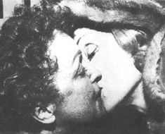 """french Singer Edith Piaf and German actress Marlene Dietrich, """"the kiss"""""""