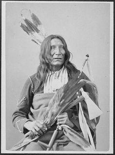Blackfeet Chief Little Dog | ... :Black Eye-Ish-Tah-Sa-Pah. Sans Arc Sioux, 1872 - NARA - 519019.jpg