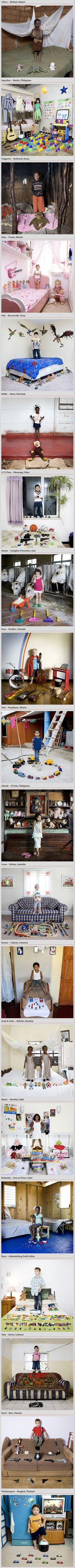 Toys can tell a whole story about the child's background and family, and even the professions of the parents. In his photo series 'Toy Stories', Italian photographer Gabriele Galimberti traveled around the globe for 18-months and photographed children with their toys.