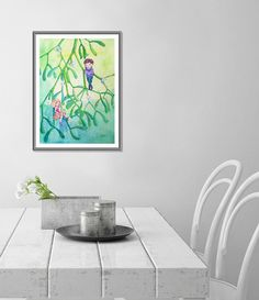 Sale 15% Mistletoe painting ORIGINAL art work Christmas