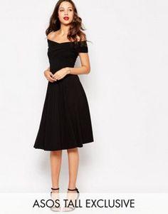 ASOS TALL Skater Dress with Bardot Neckline