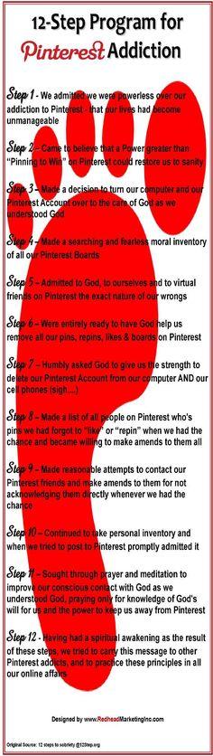 12-Step Plan for Pinterest Addiction :)