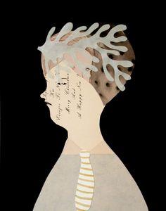 Allyson Mellberg ~ Coral Papercut (via field and sea)