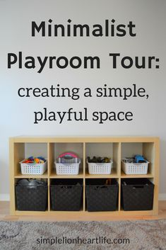 Minimalist Playroom Tour: Creating a Simple, Playful Space – Simple Lionheart Life Minimalist Playroom Tour – creating a simple, playful space. See what minimalism with kids and toys looks like in real life! Minimalist Kids, Minimalist Living, Minimalist Parenting, Minimalist Lifestyle, Baby Boys, Playroom Organization, Organization Ideas, Playroom Ideas, Organizing Toys