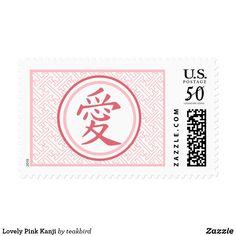 Lovely Pink Kanji Postage