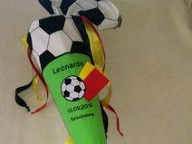 Stoff Schultüte Zuckertüte Fußball