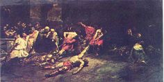 Spolarium, 1884 by Juan  Luna at the Philippine National Museum.