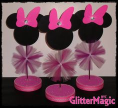 Minnie Mouse Centerpiece / Minnie Mouse by GlitterMagic23s on Etsy, $10.50