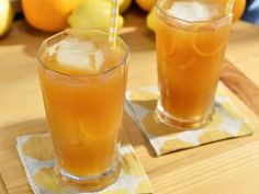 Orange Bourbon Iced Tea Recipe | Geoffrey Zakarian | Food Network