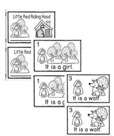 Little Red Riding Hood Character Describing Words Matching