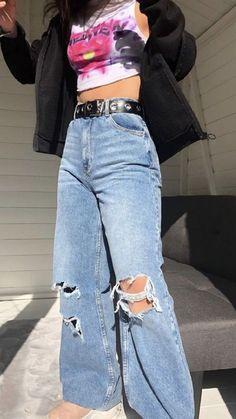 Indie Fashion, Aesthetic Fashion, Look Fashion, Streetwear Fashion, Aesthetic Clothes, Teen Fashion, Fashion Outfits, Aesthetic Indie, Blue Aesthetic