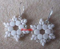 Honeycomb beads earrings