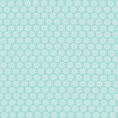 kankaita.com Cotton Pastellikukka 3 - Puuvilla - turkoosi