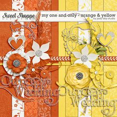 Sweet Shoppe Designs::Digital Scrap Kits::My One And Only - Orange & Yellow Minis by Jady Day Studio