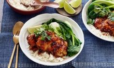 Sticky poached Asian chicken