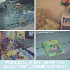 Books can show up in the strangest places! Learn 5 Emotional and Behavioral Behavioral Benefits of Reading with Your Child at ItTakesABlog.com @chr