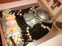 Predator Cake Alien Cake, 5th Birthday, Birthday Parties, Monster Cakes, Alien Party, Pokemon, Baking Business, Alien Vs, Awesome Cakes