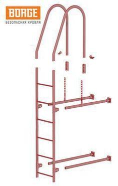 Фасадные лестницы используются для безопасного подъема на кровлю по стене здания, обеспечивают доступ для обслуживания и ремонта.  В зависимости от высоты здания потребуется одна (1,8м/3,0м) или несколько секций лестницы. Секции могут обрезаться и/или сращиваться между собой для получения необходимой длины.  Производство и офис продаж:   +7(843)202-20-79 Дополнительный офис продаж:  +7(843)202-20-79   еmail: info@metlain.com Мы работаем с 08:00 до 18:00 Выходные: суббота, воскресенье…
