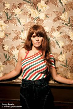 This reminds me of the look of the Jenny Lewis wardrobe : ) Proving a rolling stone gathers no moss, Jenny Lewis is determined to be everywhere as of late. The former Rilo Kiley frontwoman has a variety of projects in the works. Jenny Lewis, 70s Fashion, Star Fashion, Rabbit Fur Coat, Tegan And Sara, One Of The Guys, Indie Pop, Redheads, Celebs